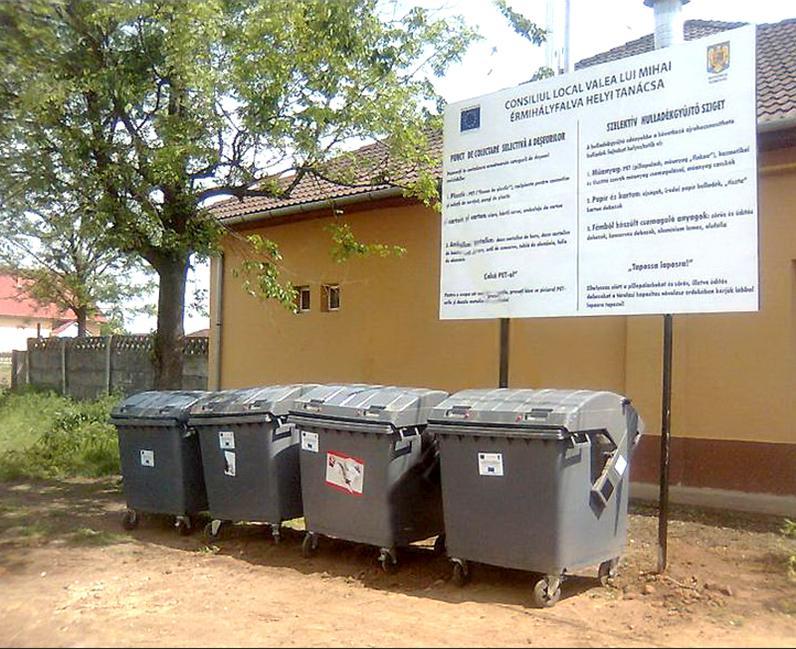 szelektív hulladék érmihályfalván erinto.ro érintő